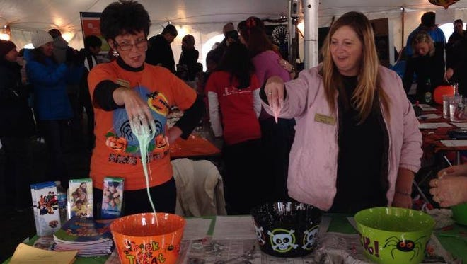 Slime is always a favorite attraction at Spooky Science Saturday at Kingman Museum and Leila Arboretum.