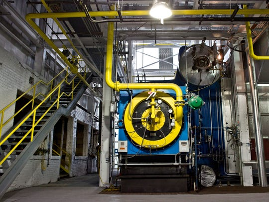 A new gas boiler is installed Wednesday, Dec. 30, 2015 at Cargill salt in St. Clair. Cargill is investing $10 million into its facility on Riverside Avenue to reduce its emission footprint.
