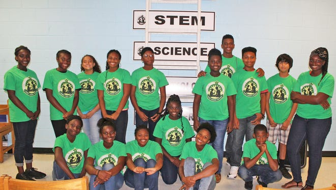 Some of the students who attended the Science Institute of Discovery.