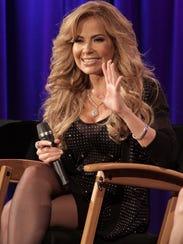 Gloria Trevi speaks onstage at Gloria Trevi: El Amor