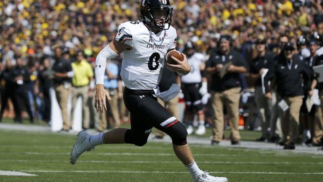 Quarterback Hayden Moore and the Cincinnati Bearcats will play Marshall in a non-league home game on Saturday.