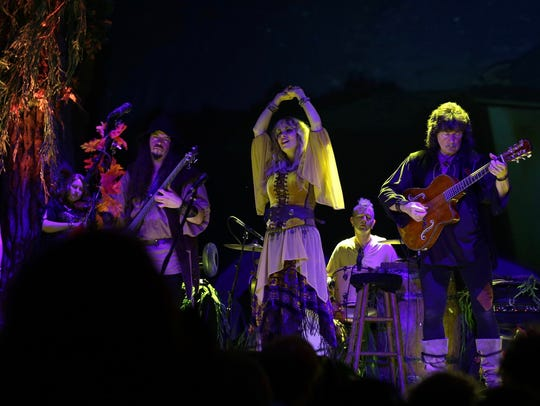 Blackmore's Night in concert, featuring, from left,