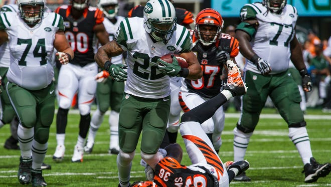 Jets running back Matt Forte carried the ball 22 times for 96 yards in Week 1.