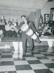 Desi at El Mirador Hotel circa 1940s.
