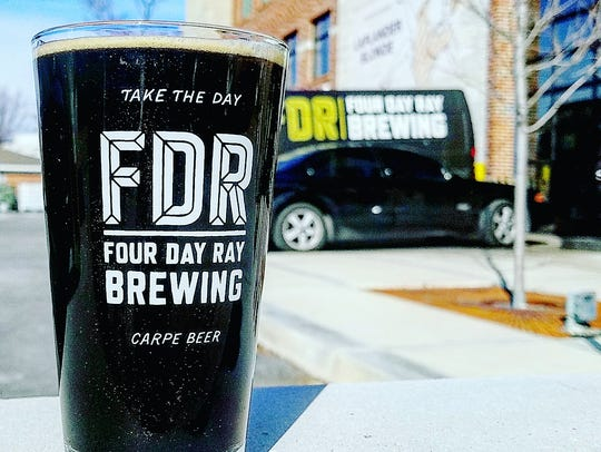 Glitter beer at Four Day Ray Brewing in Fishers.