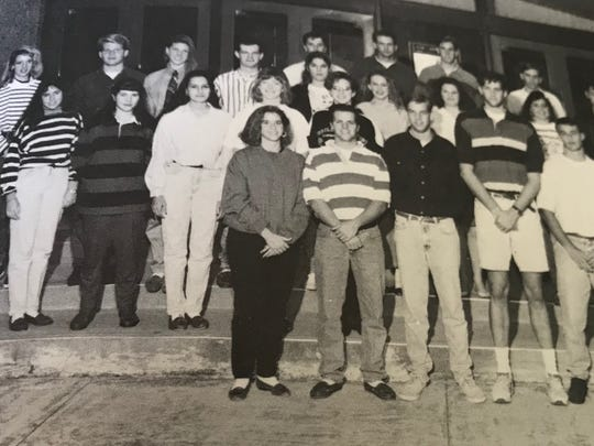 First person in the first row, the former Ashley Estes was one of Cooper High School's Student Council representatives in the Class of 1993. She spent three years as a member of the campus organization.