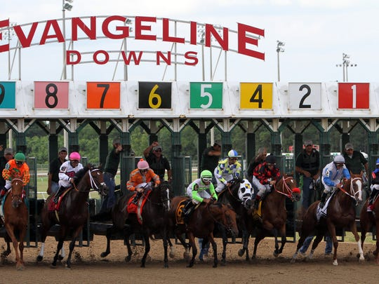 A gas leak at Evangeline Downs has caused an evacuation.