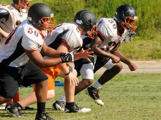 Cocoa Tigers football practice