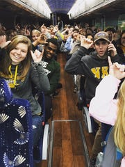 Northern Kentucky University students packed a 55-seat bus the morning of March 7 to head to Detroit.