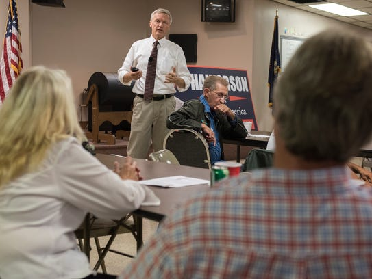 Art Halvorson holds a town hall meeting on Thursday,