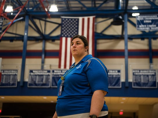 Spring Grove girls' basketball head coach Holly Strait