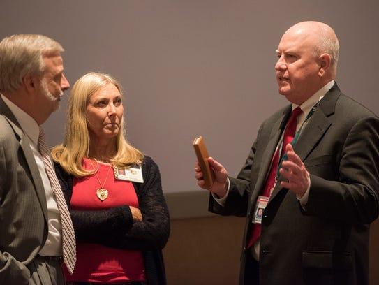 Michael Sentance, right, Alabama Board of Education