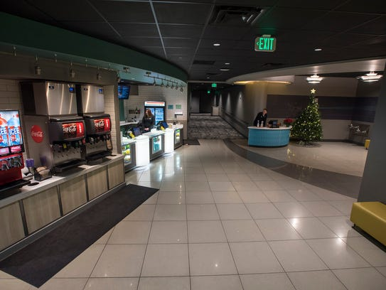The second floor concession stands inside Sperry's