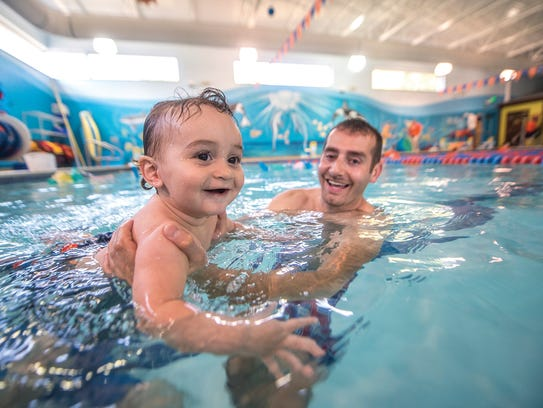 Goldfish Swim School offers classes for babies as young as four months and kids as old as 12 years.