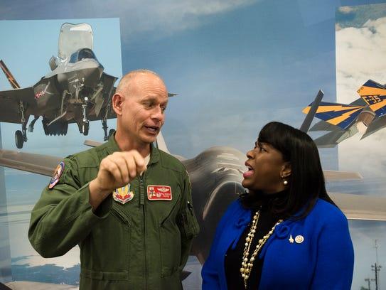 Congresswoman Terri Sewell and Col. Will Sparrow speak