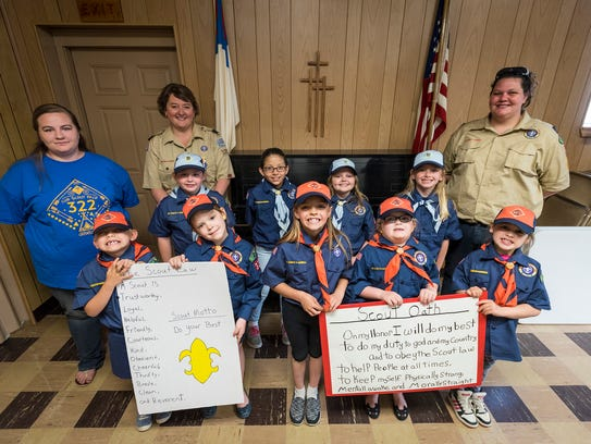 The girls in Croswell's Cub Scouts Pack 322 Tiger and