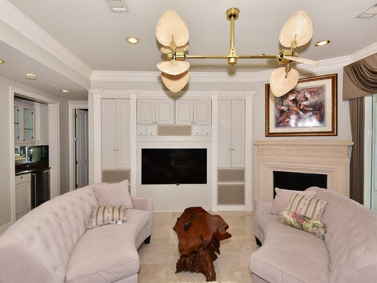 11 La Caribe, the living room features a fireplace