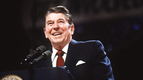 President Ronald Reagan in a 1983 photo.