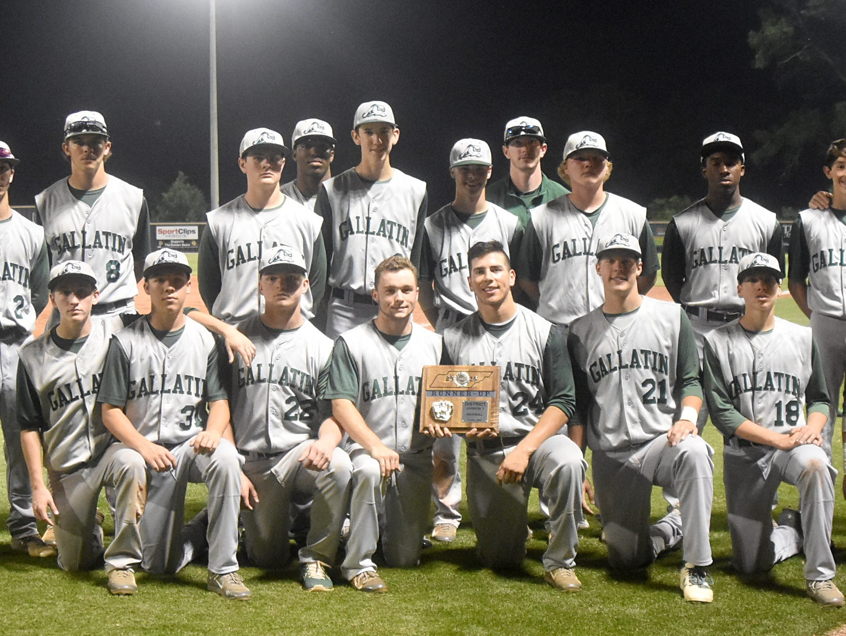The Gallatin High baseball team finished as the District 9-AAA Tournament runner-up.