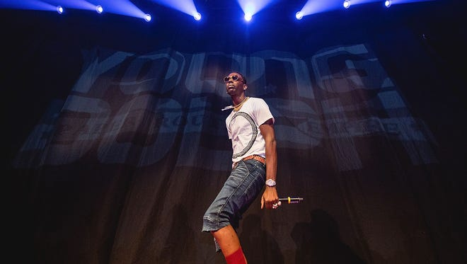 Rapper Young Dolph performs in concert during the 'Pretty Girls Like Trap Music Tour 2017' on September 25, 2017 in Austin, Texas.