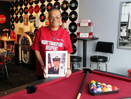 Roxanne Watson, a recipient of a heart transplant,