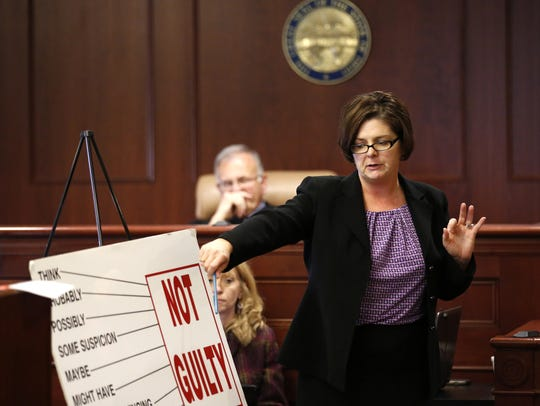 Defense Attorney Melynda Cook Howard talks to the jury in this 2015 file photo.