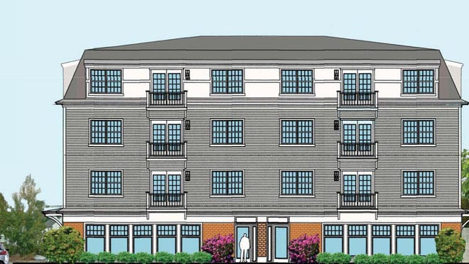 A 12-unit apartment building with offices and a restaurant on the ground floor is proposed for Preble Street in Dover.