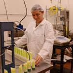 """Clare Schwartz packages an herbal remedy, Wounded Warrior Ointment, billed as """"a first aid kit in a bottle."""" Her company is among an increasing number of ventures in the region that are growing, manufacturing and marketing products from local herbs and plants."""