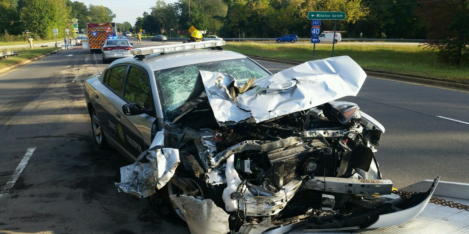 NC Trooper, 16-Year-Old Driver Collide on Highway 64