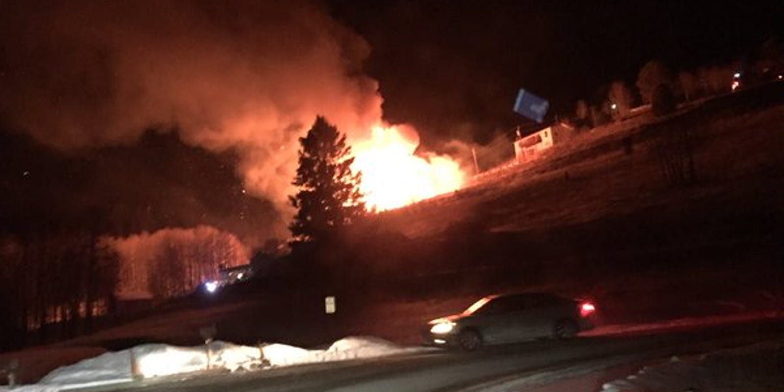 Evergreen House Destroyed Monday Morning