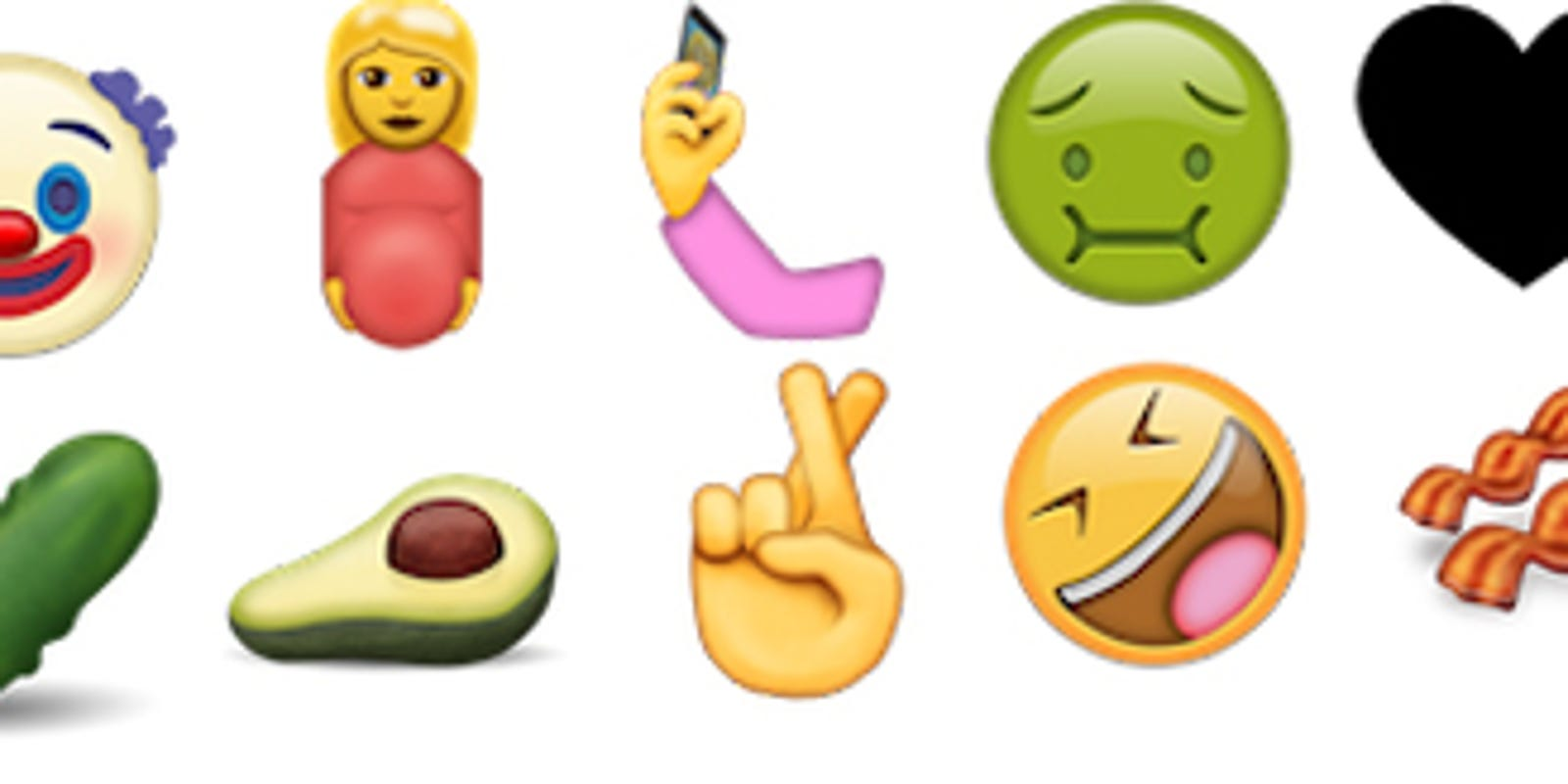 Emoji Candidates For 2016 Include Selfie Clown Pickle
