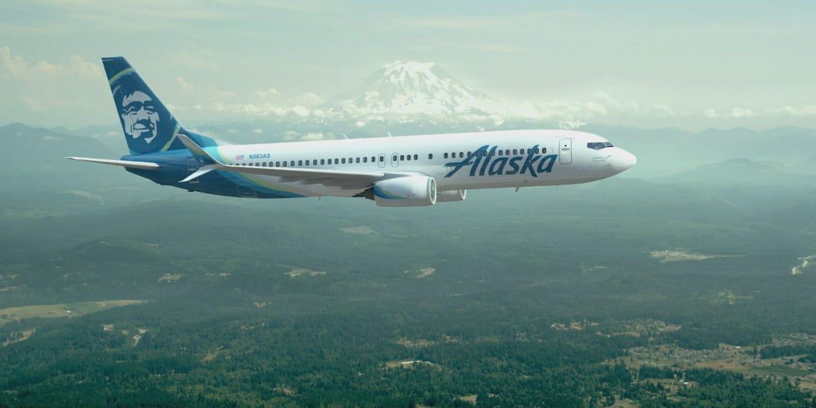 Alaska Airlines New Paint Job