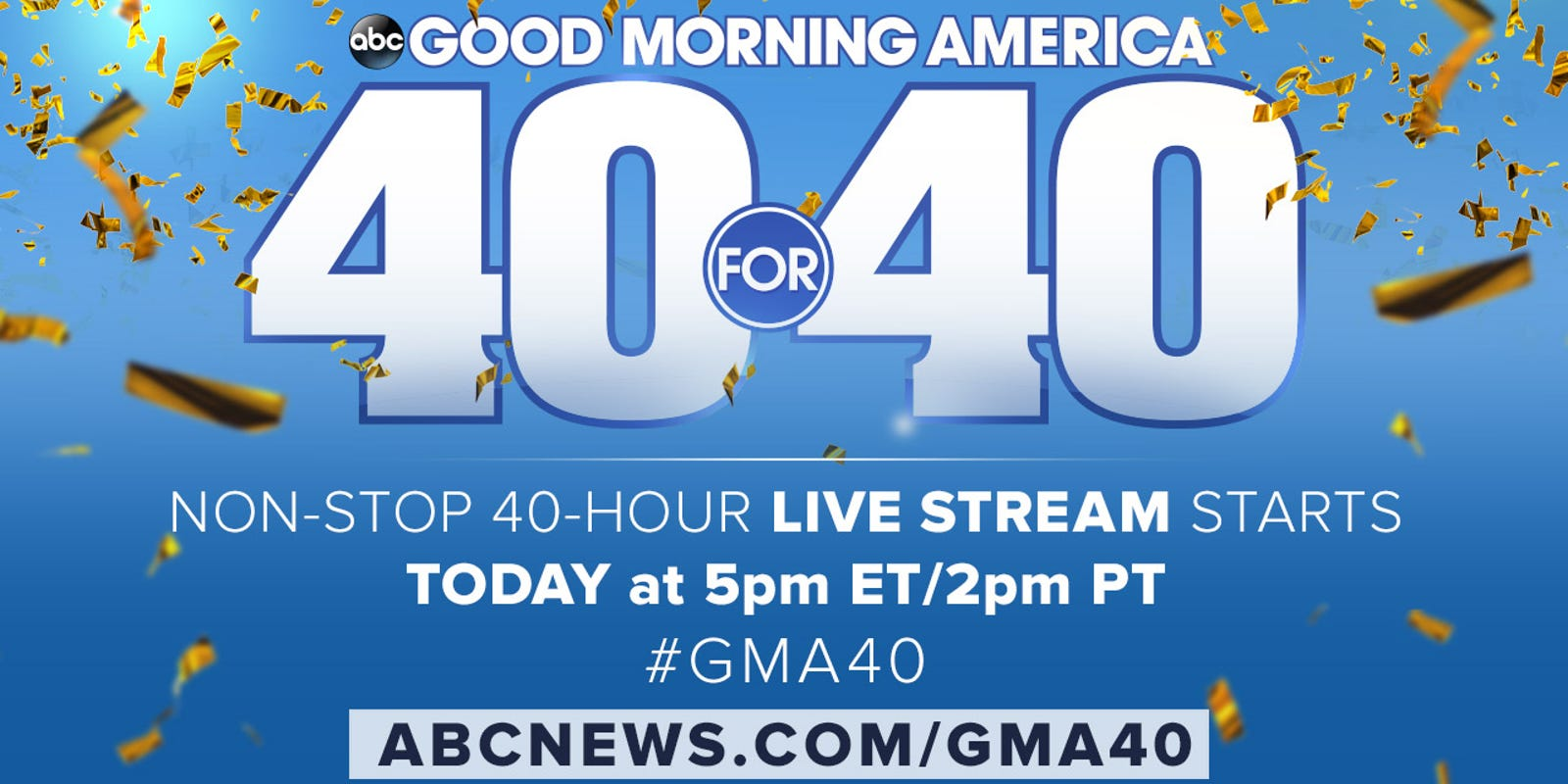 Good Morning America Stories Today : Gma celebrates th anniversary with hour broadcast