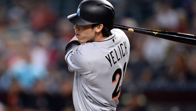 Christian Yelich, who had 18 homers and had 81 RBIs last season, was the latest Marlins player to get trade as Miami shipped the Westlake High graduate to the Milwaukee Brewers on Thursday.