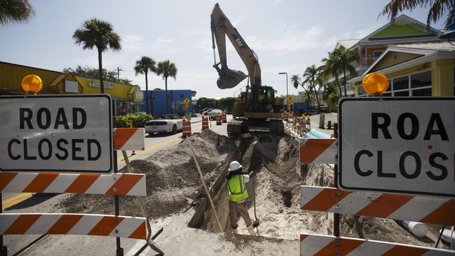 Road work on Estero Boulevard has started. It has caused delays for Fort Myers beach drivers.