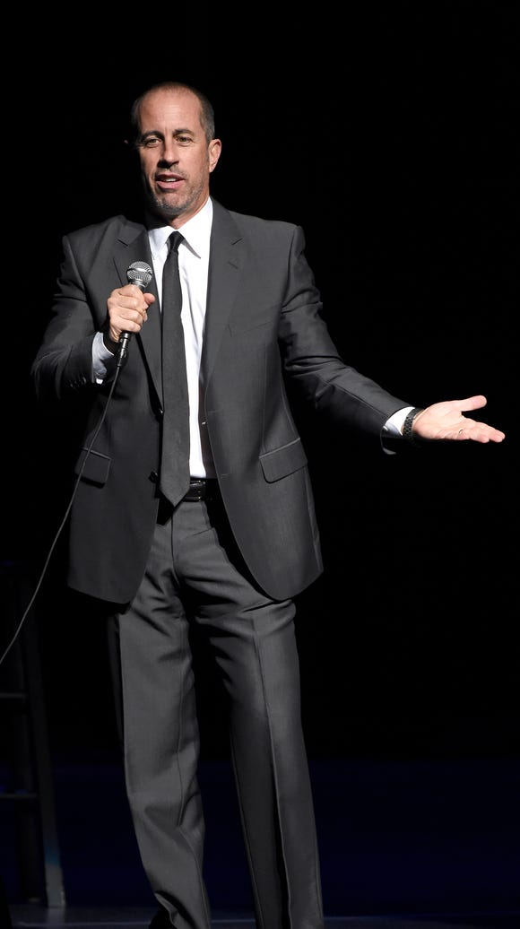 The legendary comedian Jerry Seinfeld comes Thursday,