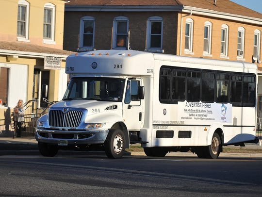 A free shuttle bus, launched in January, passes through