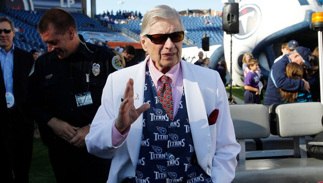 Tennessee Titans owner Bud Adams was an original founder of the AFL. He died Oct. 21 at the age of 90.