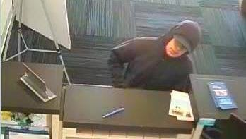 This man is sought for a robbery at a Mount Laurel bank.
