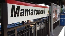 The Mamaroneck train station platform.