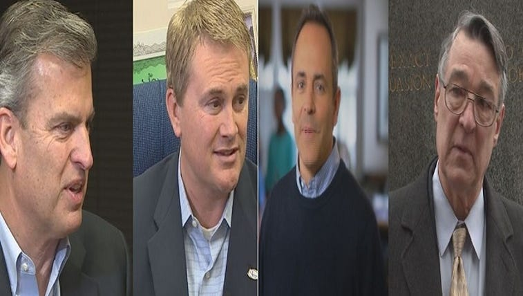 L to R: Hal Heiner, James Comer, Matt Bevin and Will