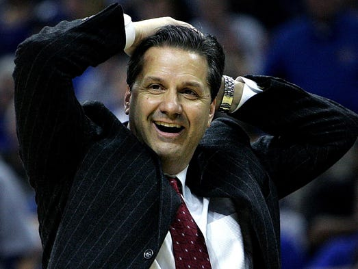 March 14, 2008 - Memphis' head coach John Calipari