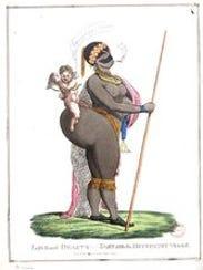 The 1822 etching of Sarah Baartman