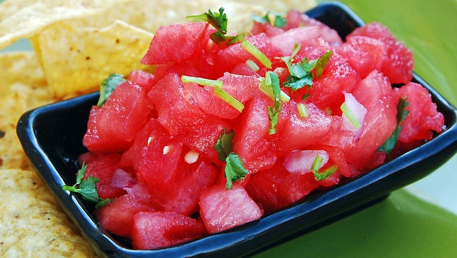 This super easy watermelon salsa is a great hit with the whole family.