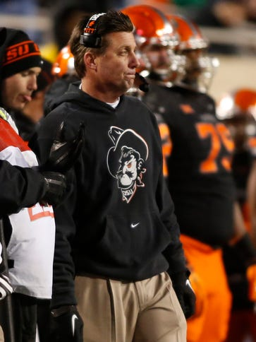 Oklahoma State head coach Mike Gundy has a top-five