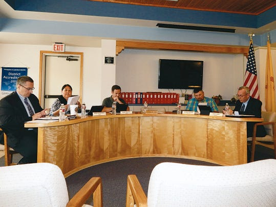 Ruidoso Board of Education without member Kevin Flusche and before Rifle Salas was appointed.