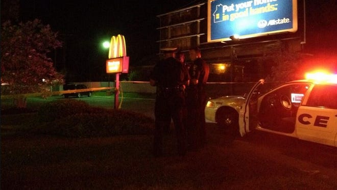 Police on the scene of a shooting at the McDonald's at the intersection of North Bend and Winton roads.
