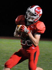 Annville-Cleona's Griffin Hertz during the game against Donegal on Friday, November 4, 2016. The Dutchmen won 34-14 to clinch a share of the Section 3 Title.