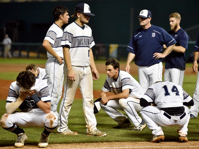 Dallastown players take a moment for themselves before