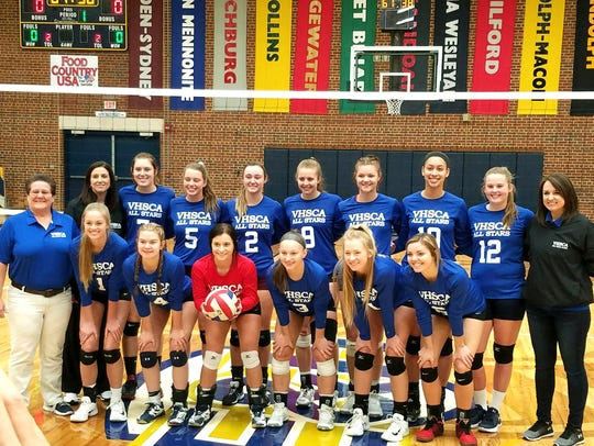 The West team at Sunday's VHSCA all-star volleyball